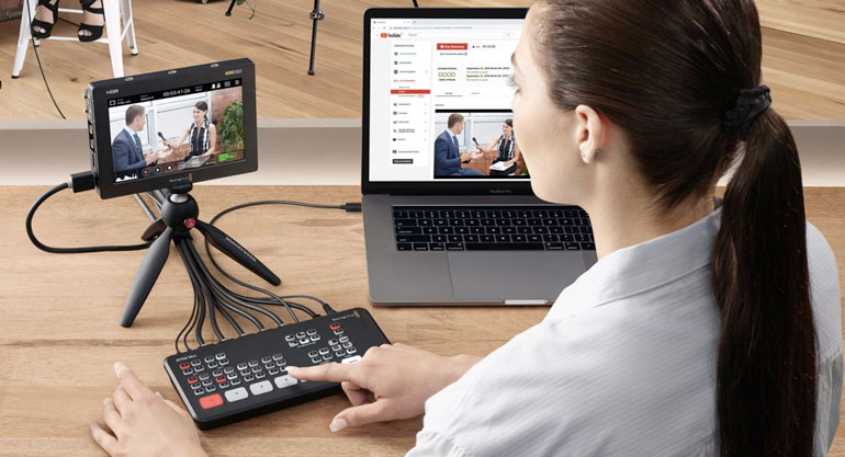 atem mini pro live switcher streaming