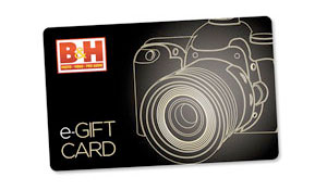 B&H Photo Video gift card