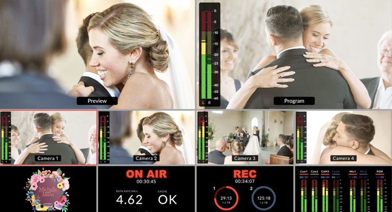 live wedding event video production