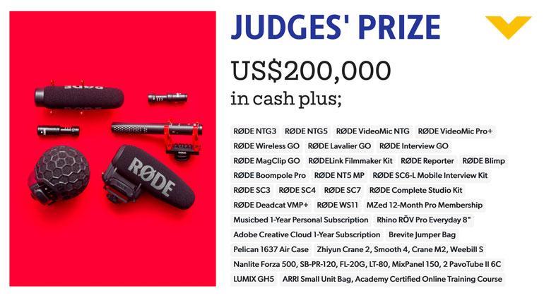 My Rode Reel Prizes