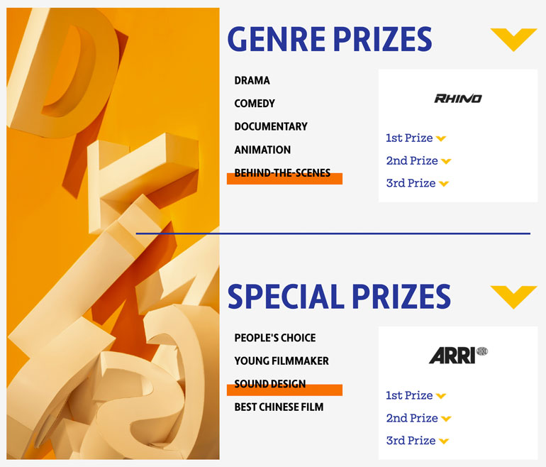 My Rode Reel Genre Prizes